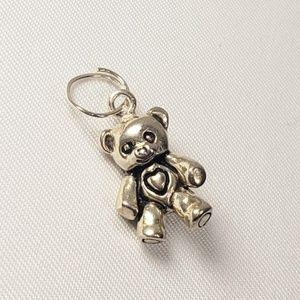Vintage Jezlaine 3D Teddy Bear Charm 925